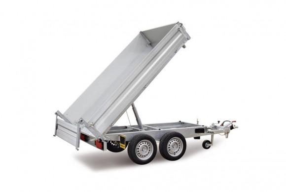 Remorque double essieux benne basculante