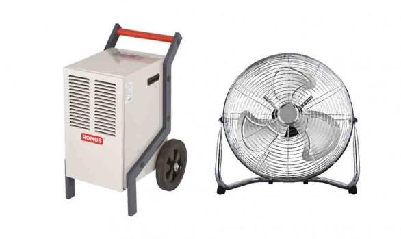 Déshumidificateur Romus 900w + ventilateur FE45